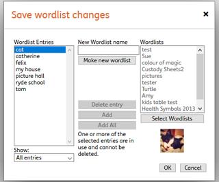 Widgit Online Help Centre | Wordlists